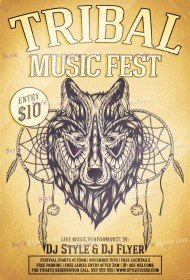 tribal-music-fest-psd-flyer-template