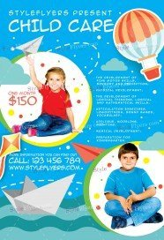 Free Babysitting Flyer PSD Templates Download Styleflyers - Child care brochure templates free