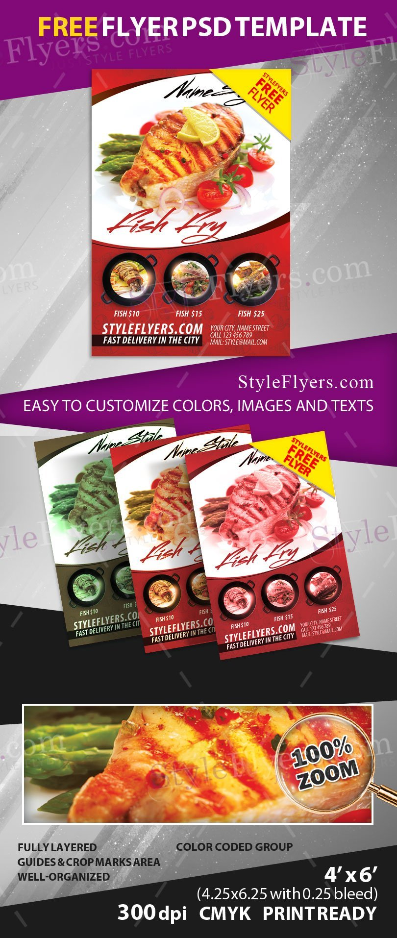fish fly psd flyer styleflyers if you are going to open your own fish restaurant or you just want to add a new menu to your old restaurant we can surprise you our offer
