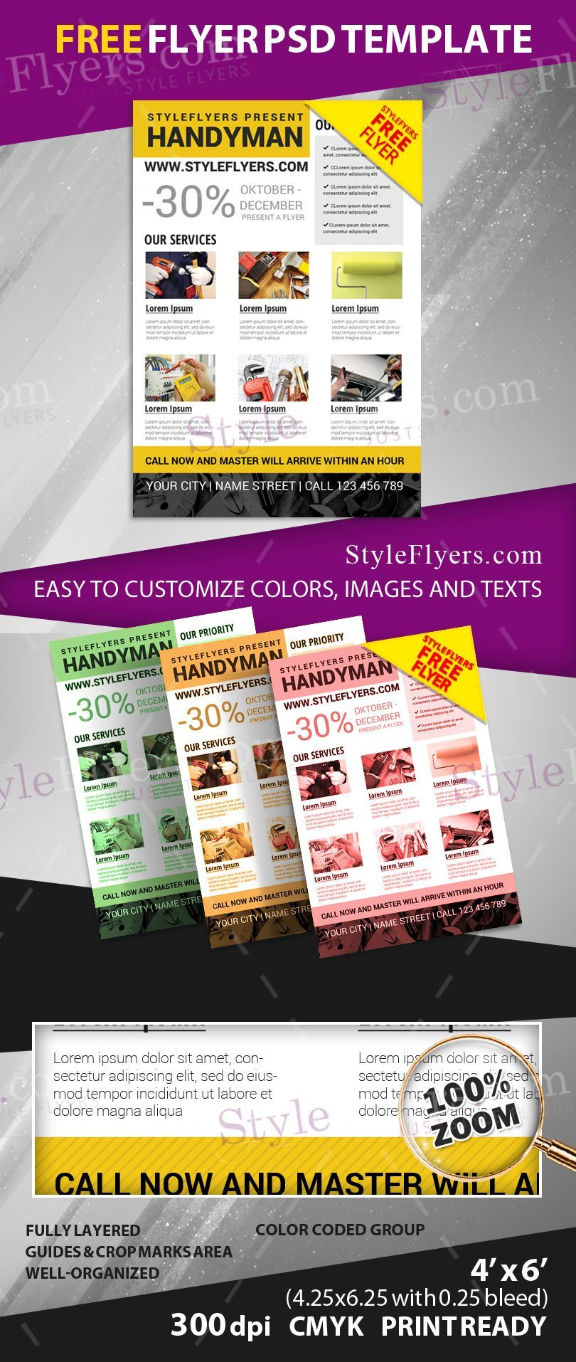 handyman psd flyer template styleflyers start using a reliable help we can offer our assistance in promoting your services for our new handyman psd flyer template