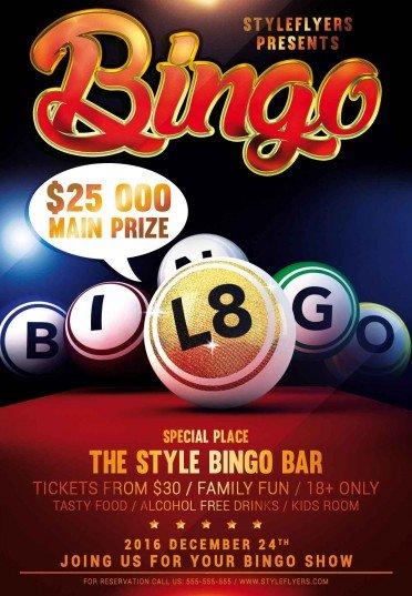 Bingo psd flyer template 13111 styleflyers bingo psd flyer template saigontimesfo