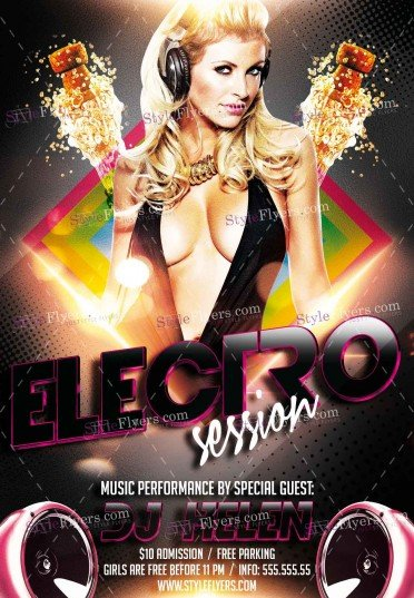 electro-session-psd-flyer-template