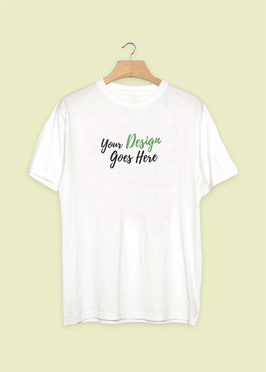 free-plain-white-realistic-t-shirt-mockup
