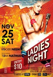 ladies-night-psd-flyer-template