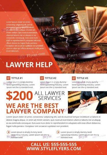 lawyer-help-psd-flyer-template