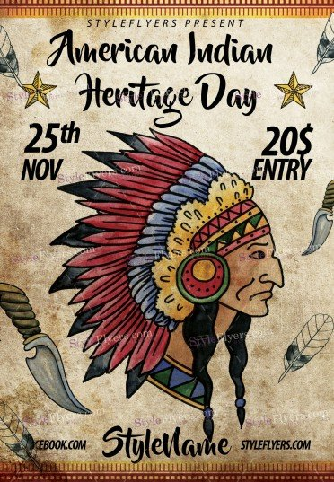 nov-25-american-indian-heritage-day-psd-flyer-template