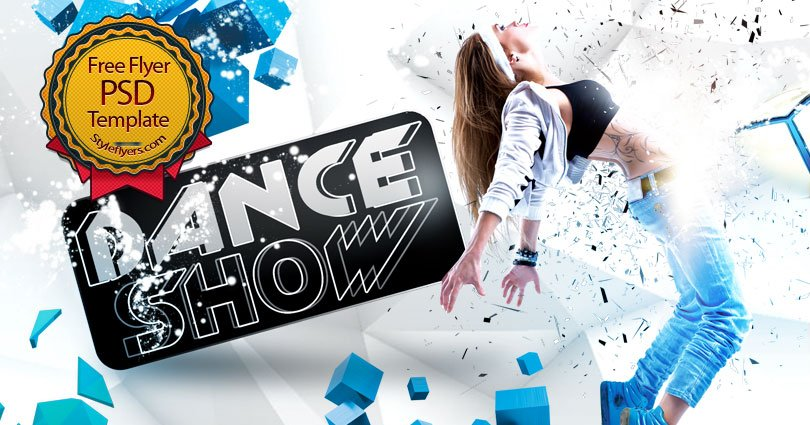 now you can freely promote your dance show without any payment we offer you to download our free dance show psd flyer template - Free Psd Flyer Templates