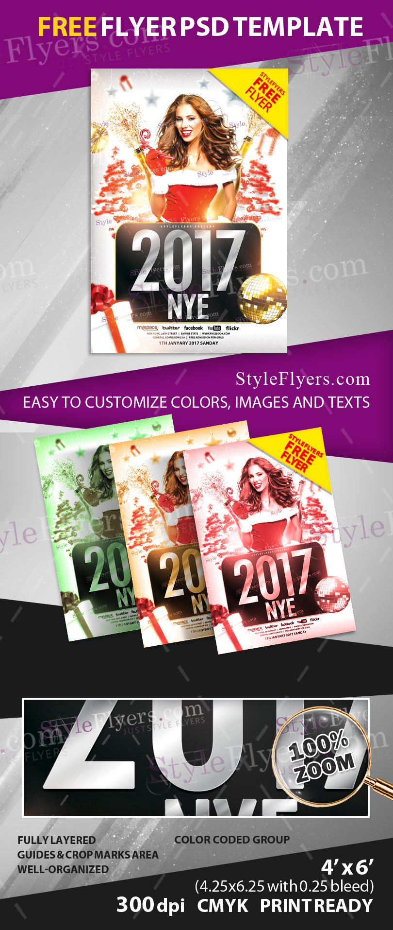 2017 new psd flyer template 13759 styleflyers luxury flyer for your new year is done this time we think of those clients who just want to start our cooperating and about our loyal client who wants to