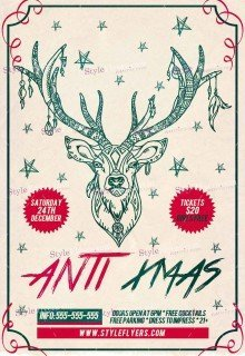 anti-xmas-psd-flyer-template