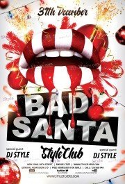 bad-santa-psd-flyer-template