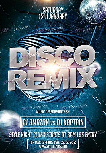 disco-remix-psd-flyer-template