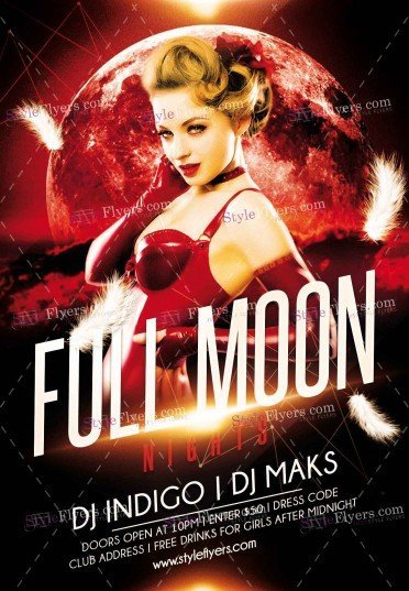 fool-moon-night-psd-flyer-template