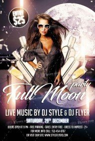 full-moon-party-psd-flyer-template