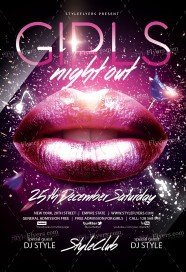 girls-night-out-psd-flyer-template