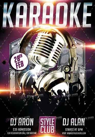 Karaoke Psd Flyer Template #16180 - Styleflyers
