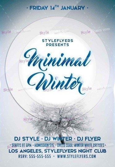 minimal-winter-psd-flyer-template