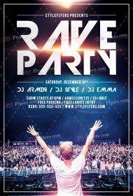 rave-party-psd-flyer-template