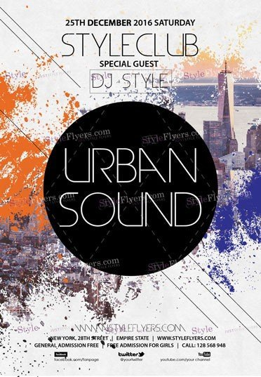 urban-sound-psd-flyer-template