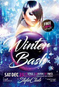 winter-bush-psd-flyer-template