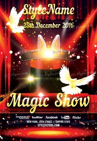 Magic Show Psd Flyer Template 15867 Styleflyers