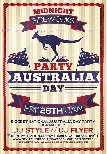 australia-day-party-psd-flyer-template