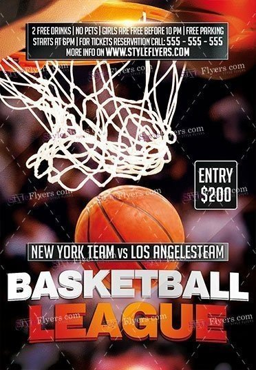 Basketball League PSD Flyer Template
