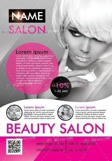 Beauty Salon Psd Flyer Template #16544 - Styleflyers