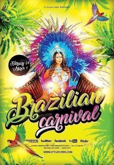 brazilian carnival psd flyer template 16546 styleflyers