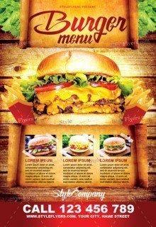 Burger Menu PSD Flyer Template