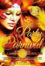 Carnival Party PSD Flyer Template