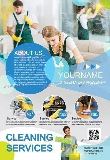 cleaning services psd flyer template 16543 styleflyers. Black Bedroom Furniture Sets. Home Design Ideas