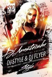 DJ Anasteisha PSD Flyer Template