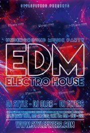 EDM PSD Flyer Template