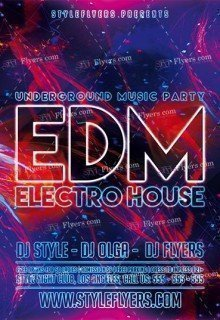 EDM PSD Flyer Template