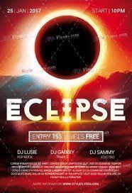 Eclipse PSD Flyer Template