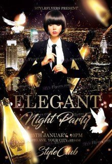 Elegant Night PSD Flyer Template