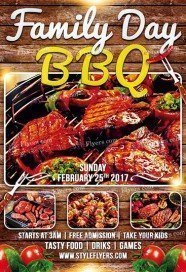 Family Day BBQ PSD Flyer Template