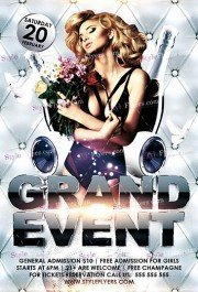 Grand Event PSD Flyer Template