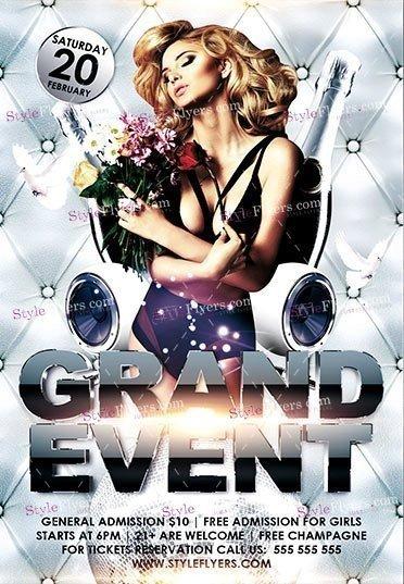 Grand Event PSD Flyer Template