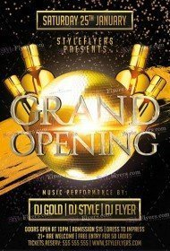 Grand Opening PSD Flyer Template