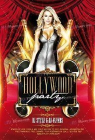 Hollywood Party PSD Flyer Template