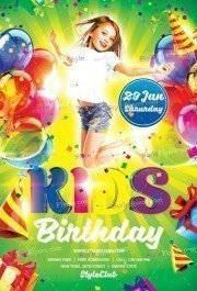 Kids Birthday PSD Flyer Template