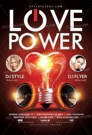 Love Power PSD Flyer Template