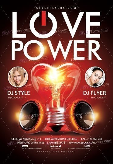 Love power psd flyer template 16725 styleflyers love power psd flyer template maxwellsz