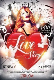 Love Story PSD Flyer Template
