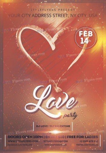 Love-party-Psd-flyerTemplate