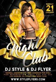 Nightclub PSD Flyer Template