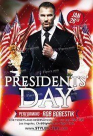 Presidents Day PSD Flyer Template