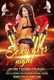sexy-girls-night-psd-flyer-template
