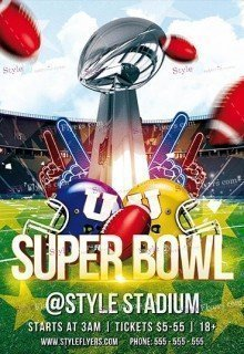 SuperBowl PSD Flyer Template